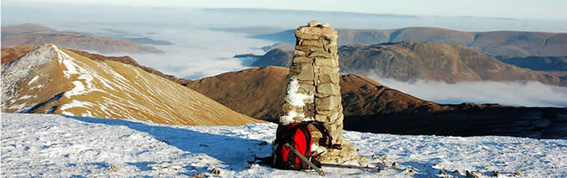 Helvellyn summit in December