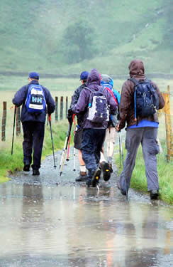 Setting out from Gatesgarth Farm on the Lake District 24 Peaks Challenge