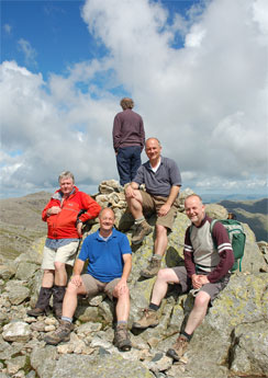 Scafell summit - Lake District 3000 Footers