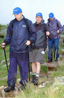 Tired walkers descending The Band